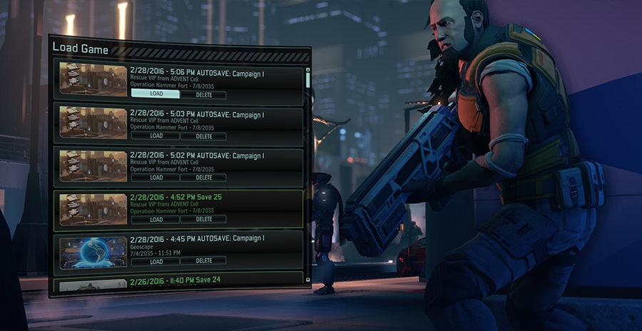 XCOM 2 save menu
